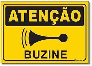 Placa Atenção - Buzine