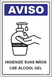 Placa - Aviso - Use Álcool Gel