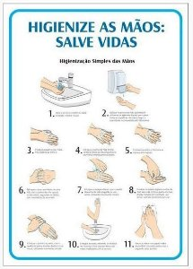 Aviso - Higienize as Mãos