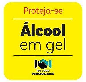 Etiqueta - Proteja-se Álcool em gel 10x10cm