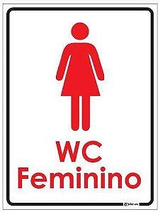 Placa de Banheiro - WC Feminino