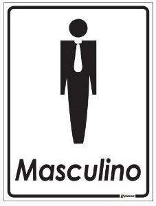 Placa de Banheiro - Masculino