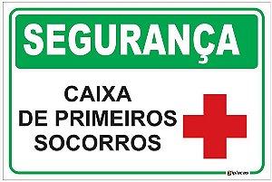 Placa SEGURANÇA - Caixa de primeiros Socorros