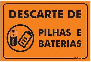 Placa Descarte de Pilhas e Baterias