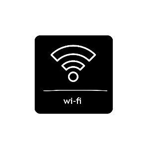 Placa Identificação - Wifi - Acrilico