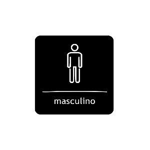 Placa Identificação - WC Masculino - Acrilico