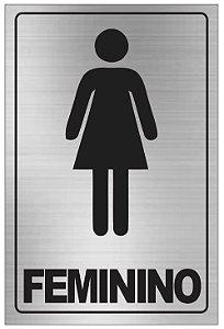 Placa WC Feminino Aluminio