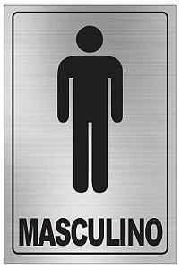 Placa WC Masculino Aluminio