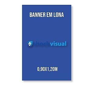 Banner em lona 0,90x1,20m