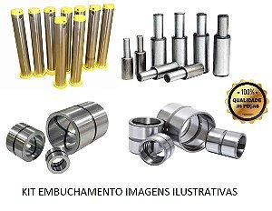 Kit Pinos e Buchas Embuchamento Traseiro Giro Sapata Estabilizador Lança Articulações Concha Caçamba - JCB 214E/3C