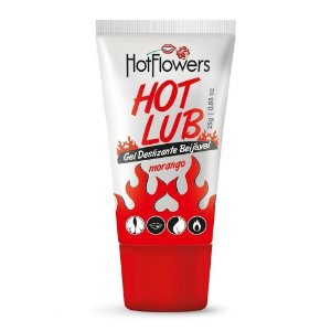 GEL DESLIZANTE BEIJÁVEL HOT LUB 25GR HOT FLOWERS