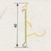 Perfil de Gôndola Seral Modelo 1010