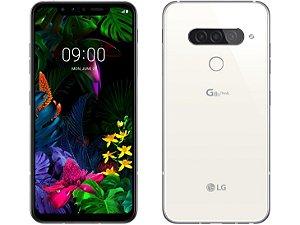 """SmartphoneG8S ThinQ Branco / Mirror White, 128GB, Tela 6,21"""" OLED, Inteligência Artificial, Snapdragon 855, Resistente a Impactos, Câmera Tripla, 6GB RAM e Processador Qualcomm - LG"""