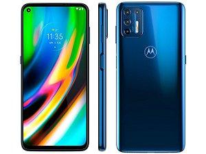 """Smartphone Motorola Moto G9 Plus Azul Índigo 128gb, 4gb Ram, Tela de 6.8"""", Câmera Traseira Quádrupla, Android 10 e Processador Octa-core"""
