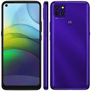 """smartphone motorola moto g9 power purple 128gb, 4gb ram, tela de 6.8"""", câmera traseira tripla, android 10 e processador octa-core"""