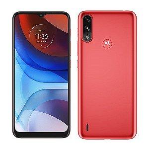 """Smartphone Motorola Moto E7 Power 4G 32GB Vermelho Coral Tela 6.5"""" Câmera Dupla 13MP Selfie 5MP Android 10"""