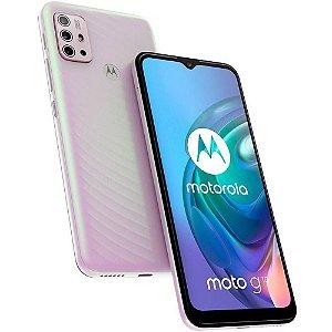 """Smartphone Motorola Moto G10 64GB 4GB Ram Tela de 6.5"""" Câmera Traseira Quádrupla - Branco Floral"""