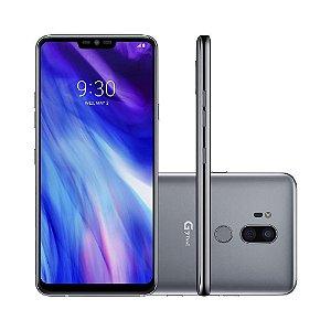 "Smartphone G7 ThinQ 64GB Prata Platinum 4G Octa Core - 4GB RAM Tela 6,1"" Câm. Dupla + Câm. Selfie 8MP - LG"