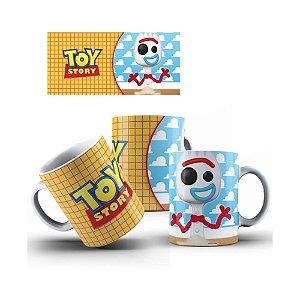 Caneca de Porcelana 325ml Personalizada Forky - Toy Story