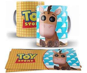 Caneca de Porcelana 325ml Personalizada FunkoBurrinho - Toy Story