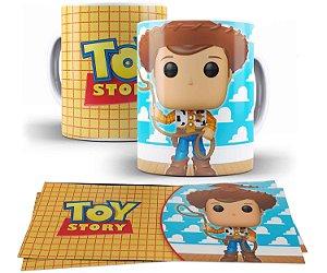 Caneca de Porcelana 325ml Personalizada FunkoWoody - Toy Story