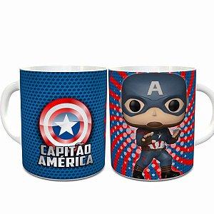 Caneca de Porcelana Funko Pop Capitão América - 211352
