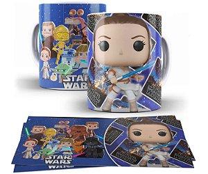 Caneca de Porcelana Funko Pop Star Wars Rey - 211367