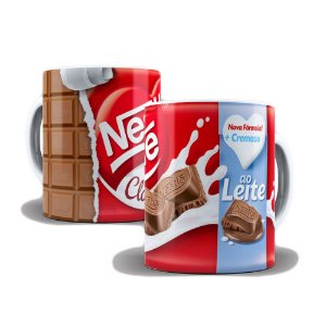 Caneca de Porcelana 325ml Personalizada Chocolate ao Leite Nestlé