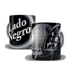 Caneca de Porcelana 325ml Personalizada Diamante Negro Lado Negro
