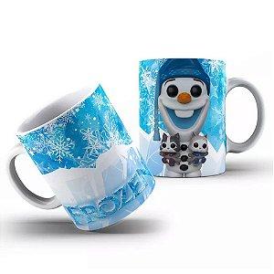 Caneca de Porcelana 325ml Personalizada Funko Olaf Frozen