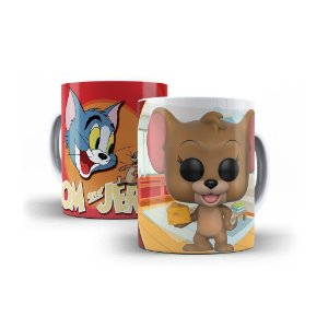 Caneca de Porcelana 325ml Personalizada Funko Tom & Jerry