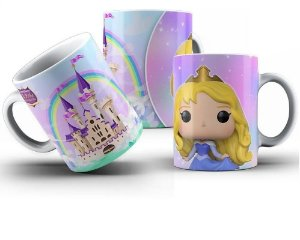 Caneca de Porcelana 325ml Personalizada Funko Princesa Aurora - Bela Adormecida