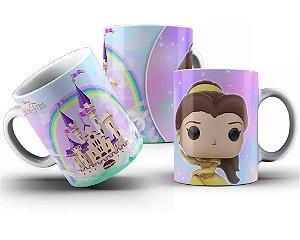 Caneca de Porcelana 325ml Personalizada Funko Princesa Bela - A Bela e a Fera