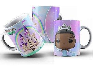 Caneca de Porcelana 325ml Personalizada Princesa Tiana Funko