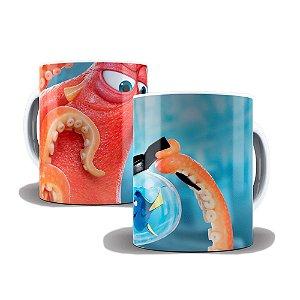 Caneca de Porcelana 325ml Personalizada Procurando Nemo Dory