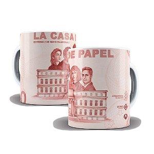 Caneca de Porcelana 325ml Personalizada La Casa De Papel