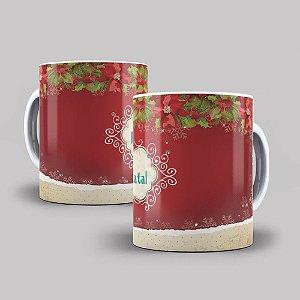 Caneca de Porcelana Feliz Natal - 211806
