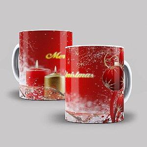 Caneca de Porcelana Feliz Natal - 211817