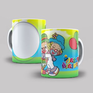 Caneca de Porcelana 325ml Personalizada Mutley - Corrida Maluca