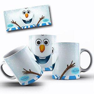 Caneca de Porcelana 325ml Personalizada Frozen Olaf