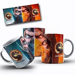 Caneca de Porcelana 325ml Personalizada Mortal Kombat