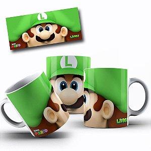 Caneca de Porcelana 325ml Personalizada Luigi