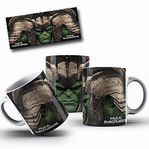 Caneca de Porcelana 325ml Personalizada Hulk Ragnarok