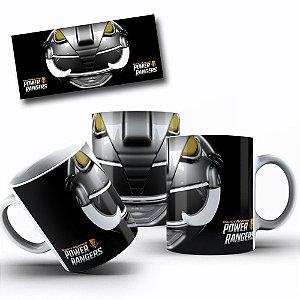 Caneca de Porcelana 325ml Personalizada Power Rangers Preto