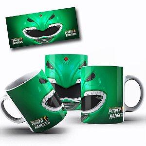 Caneca de Porcelana 325ml Personalizada Power Rangers Verde