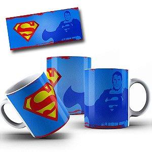 Caneca de Porcelana 325ml Personalizada Super Man