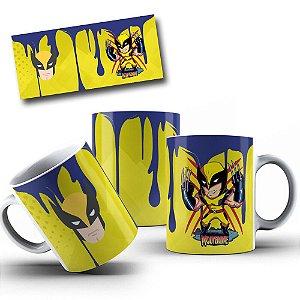 Caneca de Porcelana 325ml Personalizada Wolverine