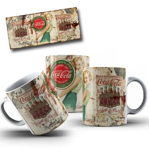 Caneca de Porcelana 325ml Personalizada Coca Cola