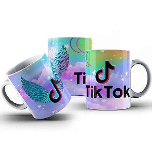 Caneca de Porcelana 325ml Personalizada Tik Tok