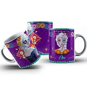 Caneca de Porcelana 325ml Personalizada Frozen Princesa Elsa